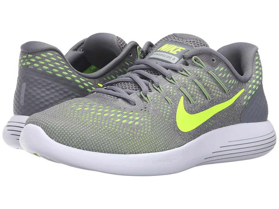 Nike - Lunarglide 8 (Cool Grey/Volt/Anthracite) Men's Running Shoes