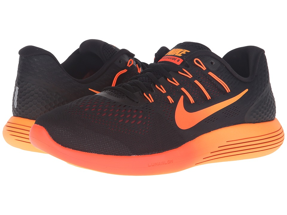 Nike - Lunarglide 8 (Black/Multicolor/Team Red/Total Crimson) Men's Running Shoes