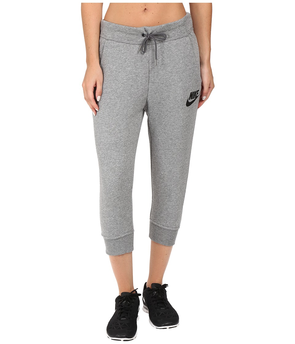 Nike - Rally Capri (Carbon Heather/Dark Grey/Black) Women's Capri