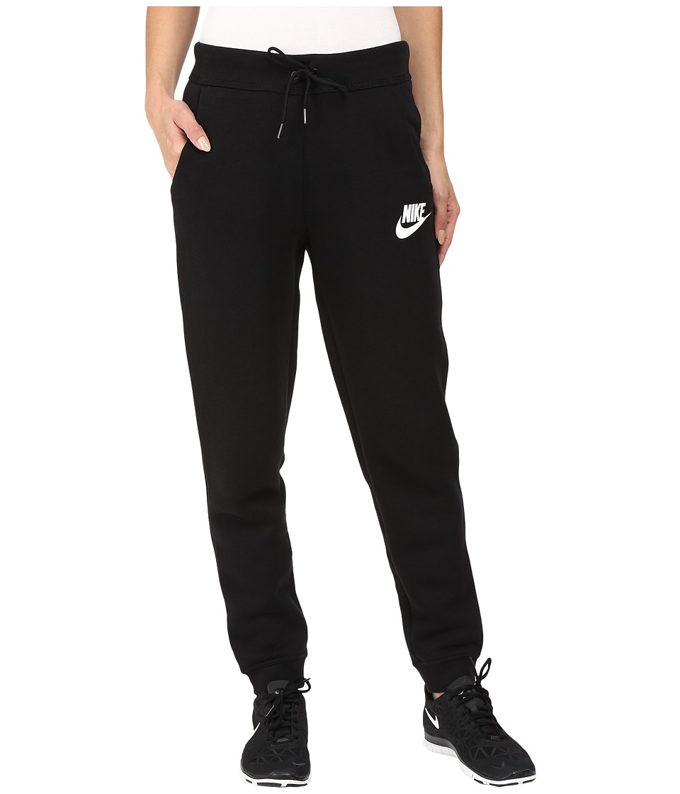 Nike - Rally Regular Pant (Black/Black/Antique Silver/White) Women's Casual Pants