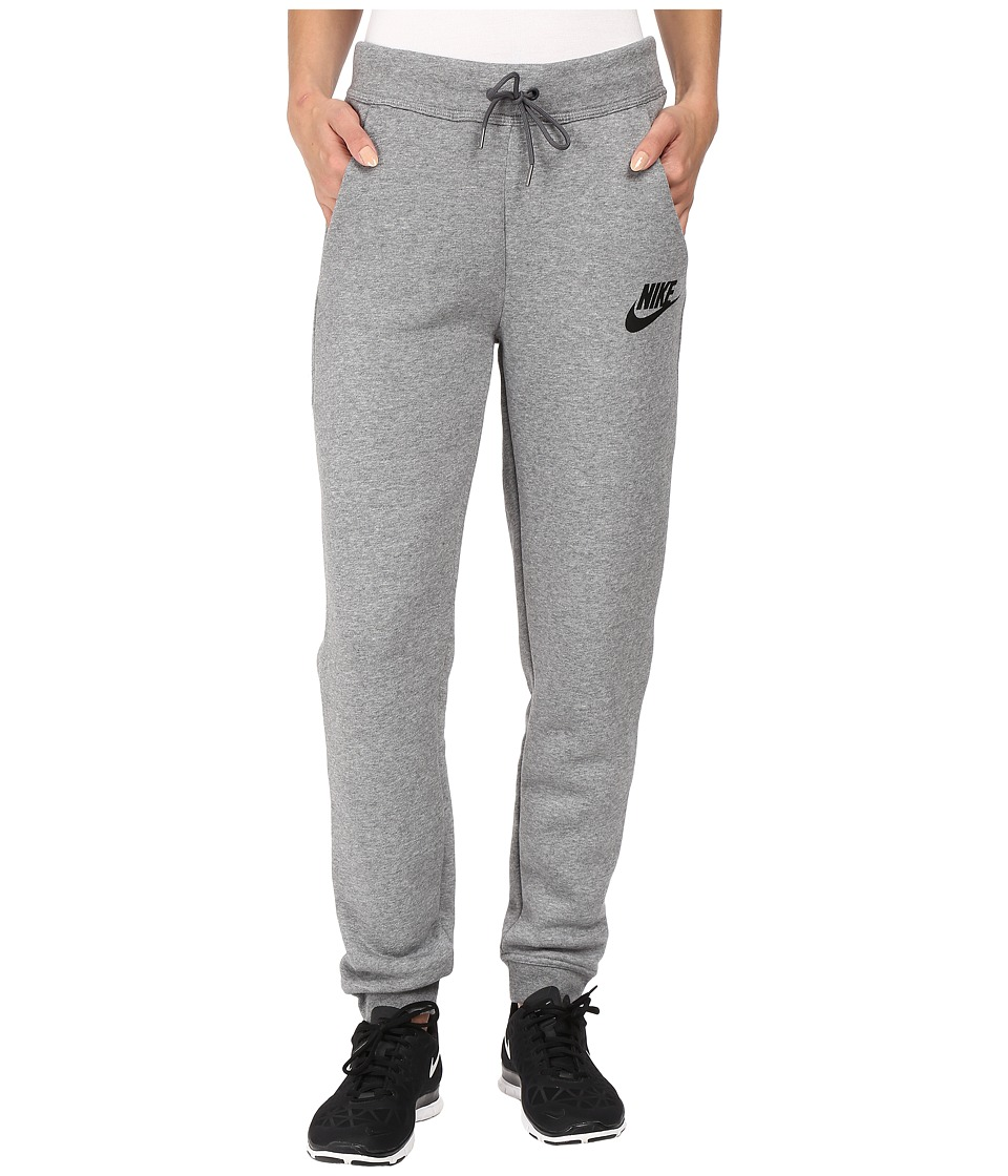 Nike - Rally Regular Pant (Carbon Heather/Dark Grey/Black) Women's Casual Pants