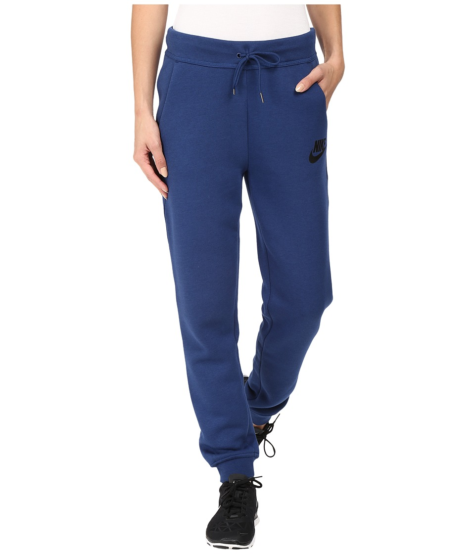 Nike - Rally Regular Pant (Coastal Blue/Coastal Blue/Black) Women's Casual Pants