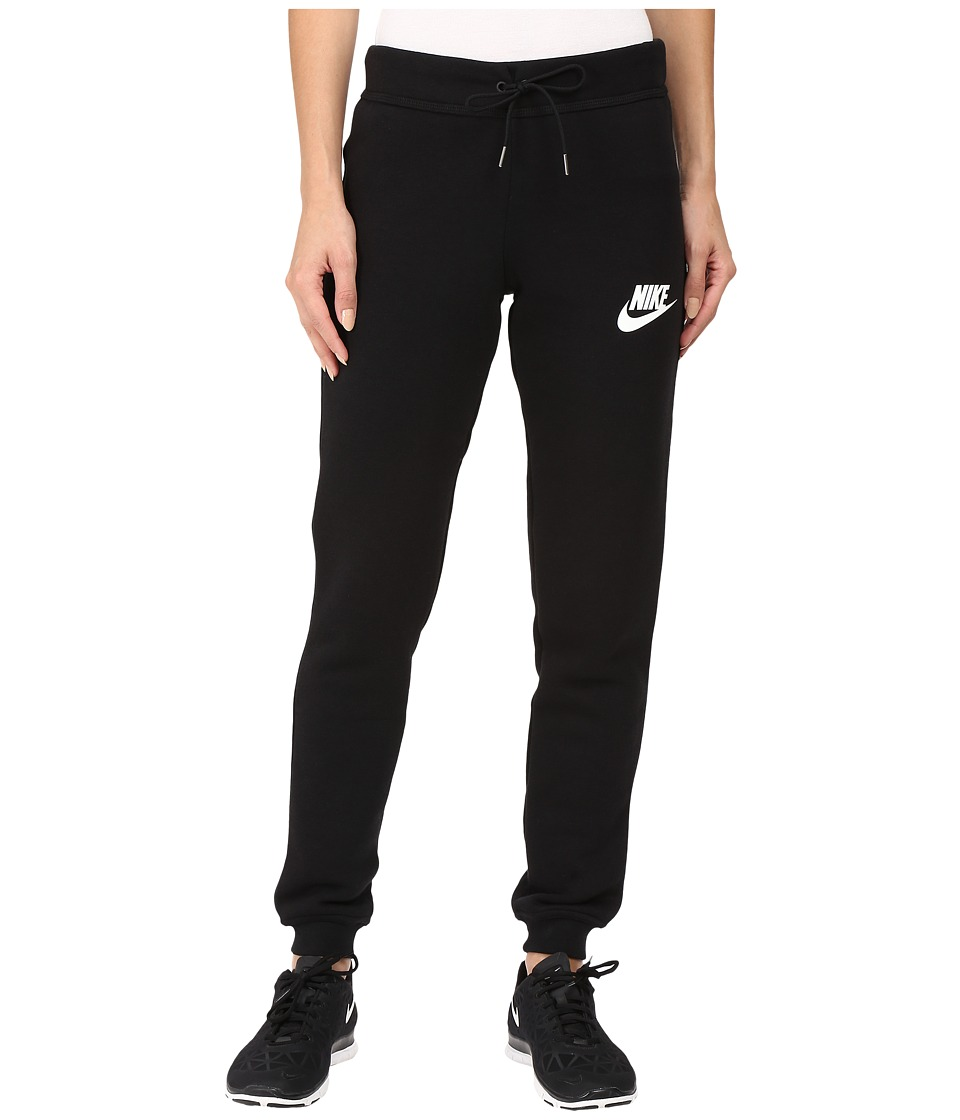 Nike - Rally Tight Pant (Black/Black/Antique Silver/White) Women's Casual Pants