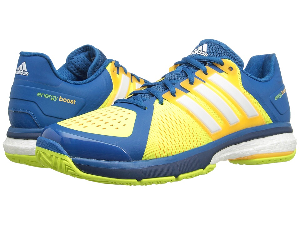 adidas - Tennis Energy Boost (Unity Blue/White/Solar Yellow) Men's Tennis Shoes