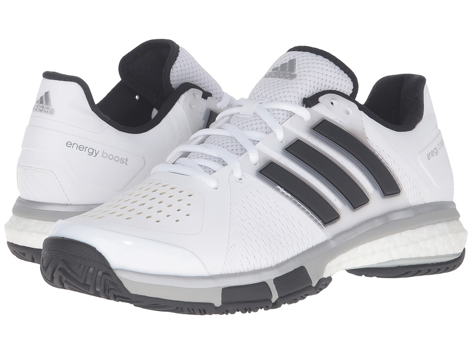 adidas - Tennis Energy Boost (White/Black/Metallic Onix) Men's Tennis Shoes