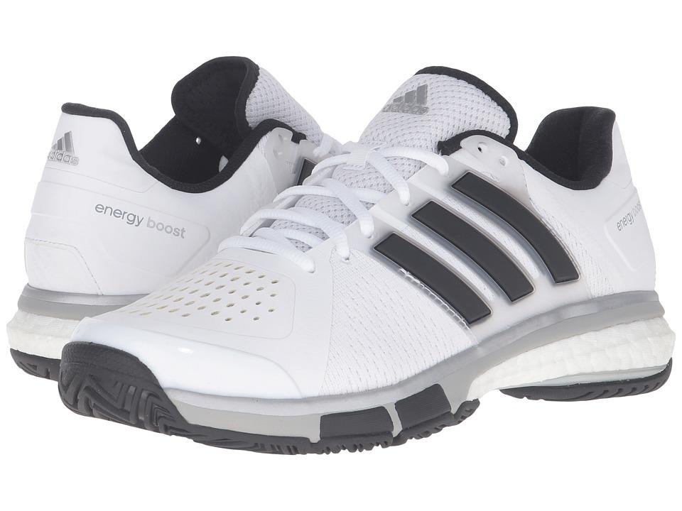 adidas - Tennis Energy Boost (White/Black/Metallic Onix) Men's Tennis Shoes