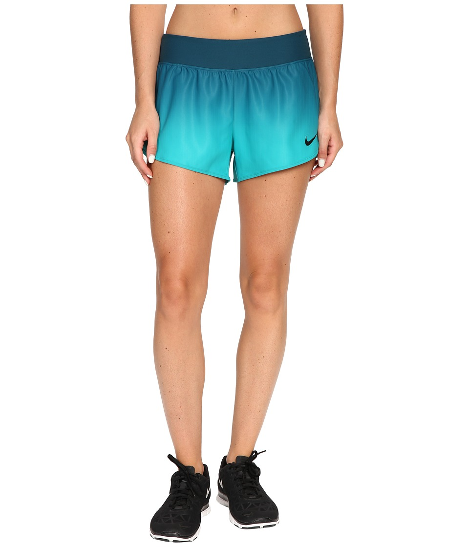 Nike - Court Flex Ace Tennis Short (Midnight Turquoise/Black) Women's Shorts