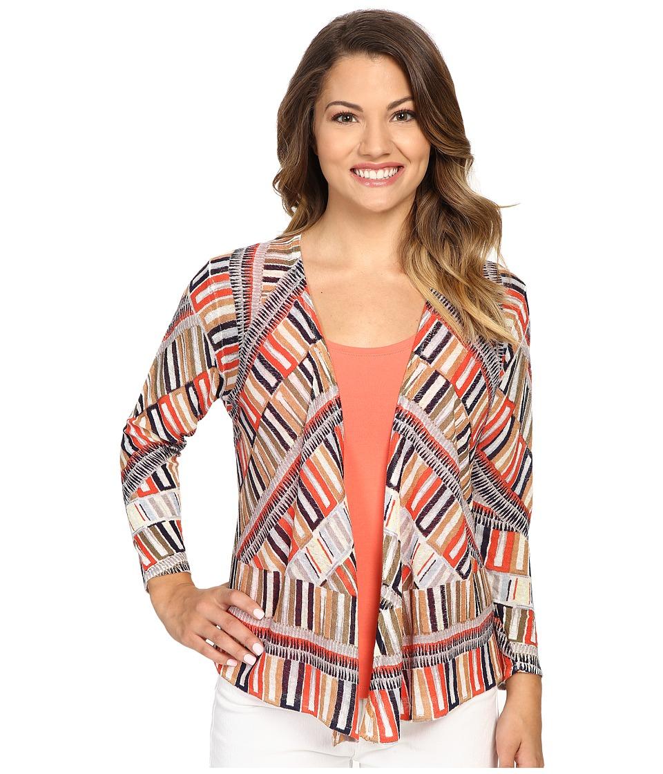NIC+ZOE - Petite Sahara Squares Cardy (Multi) Women's Sweater