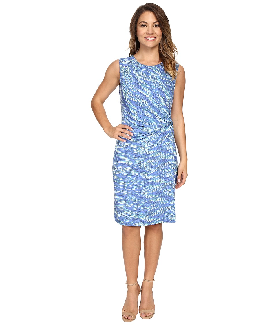NIC+ZOE - Petite Water Waves Twist Dress (Multi) Women's Dress
