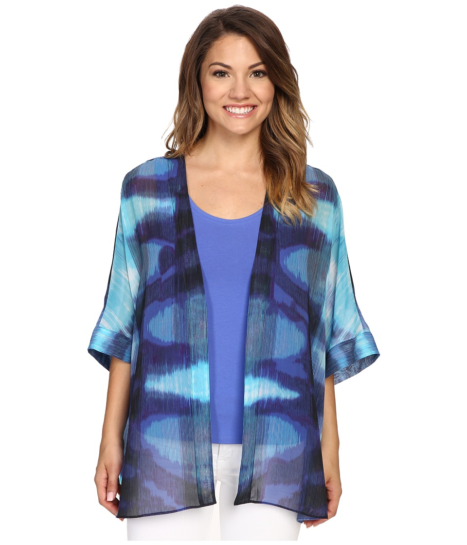 NIC+ZOE - Petite Blue Lagoon Kimono (Multi) Women's Clothing