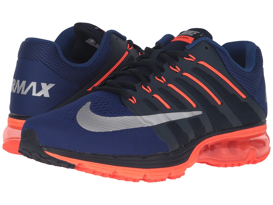 Nike - Air Max Excellerate 4 (Dark Obsidian/Metallic Silver/Total Crimson) Men's Running Shoes