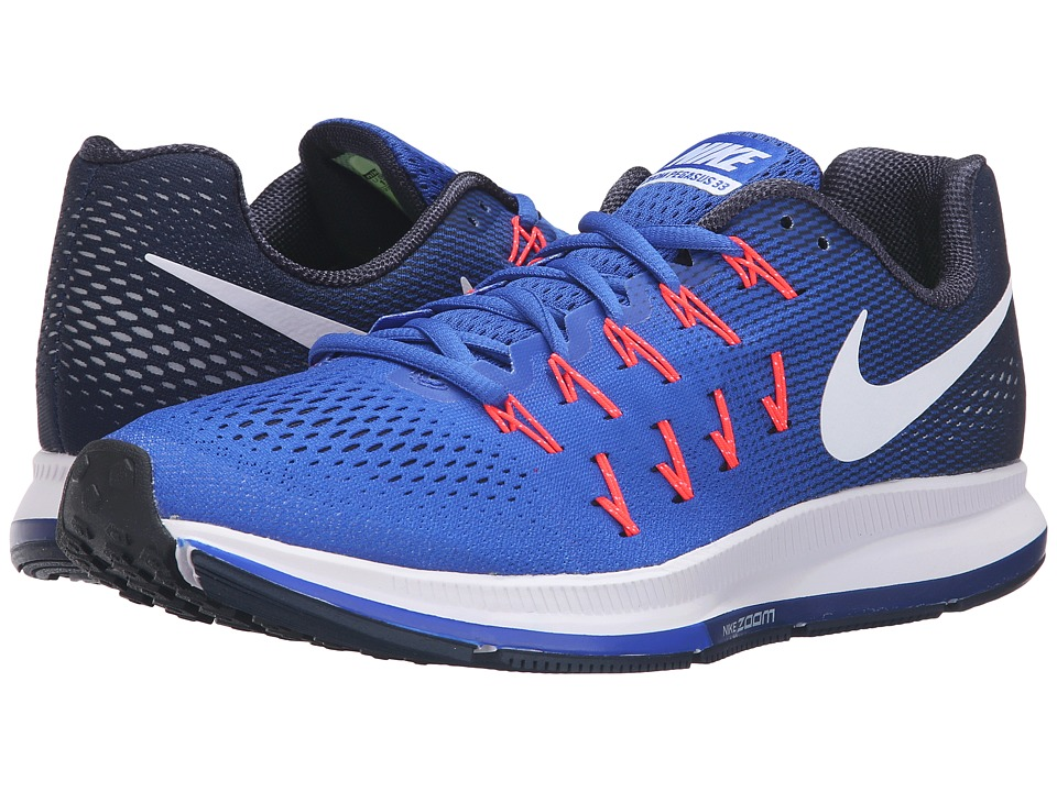 Nike - Air Zoom Pegasus 33 (Racer Blue/White/Mid Navy/Blue Glow) Men's Running Shoes