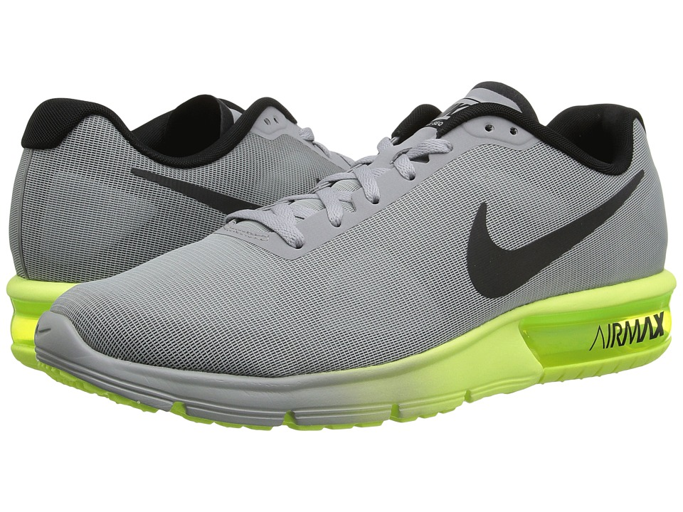 Nike - Air Max Sequent (Wolf Grey/Black/Volt) Men's Running Shoes
