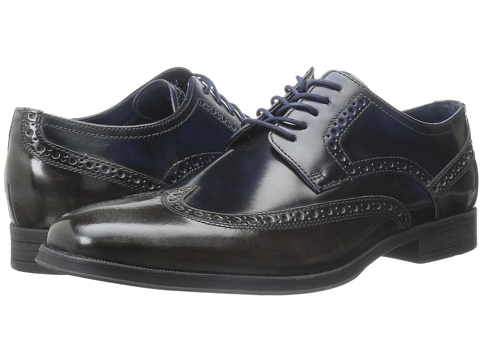 Cole Haan - Montgomery Wing Ox (Blue) Men's Lace Up Wing Tip Shoes