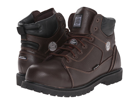 SKECHERS Work - Auger (Brown Embossed Leather) Men