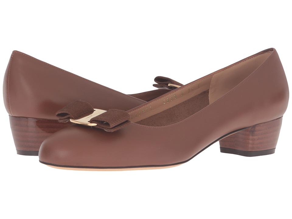 Salvatore Ferragamo - Vara (Ecorce Calf Leather) Women's 1-2 inch heel Shoes