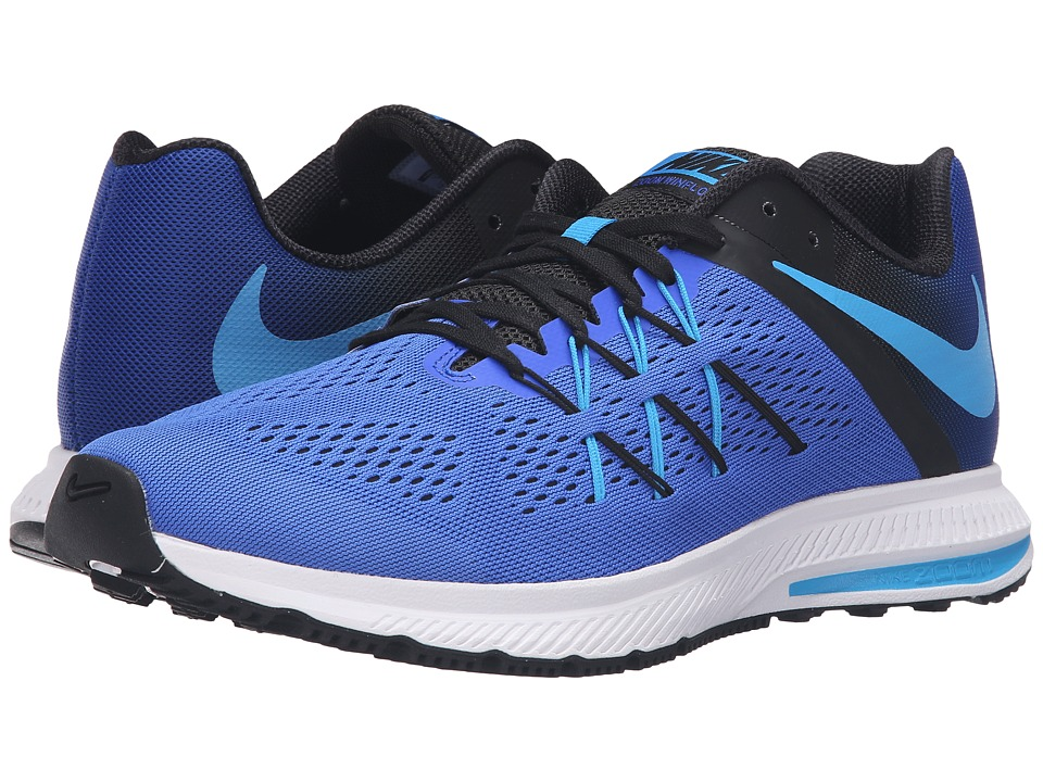 Nike - Zoom Winflo 3 (Racer Blue/Blue Glow/Black/White) Men's Running Shoes