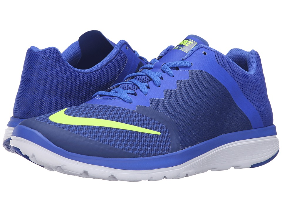 Nike - FS Lite Run 3 (Deep Royal Blue/Volt/Racer Blue/White) Men's Running Shoes