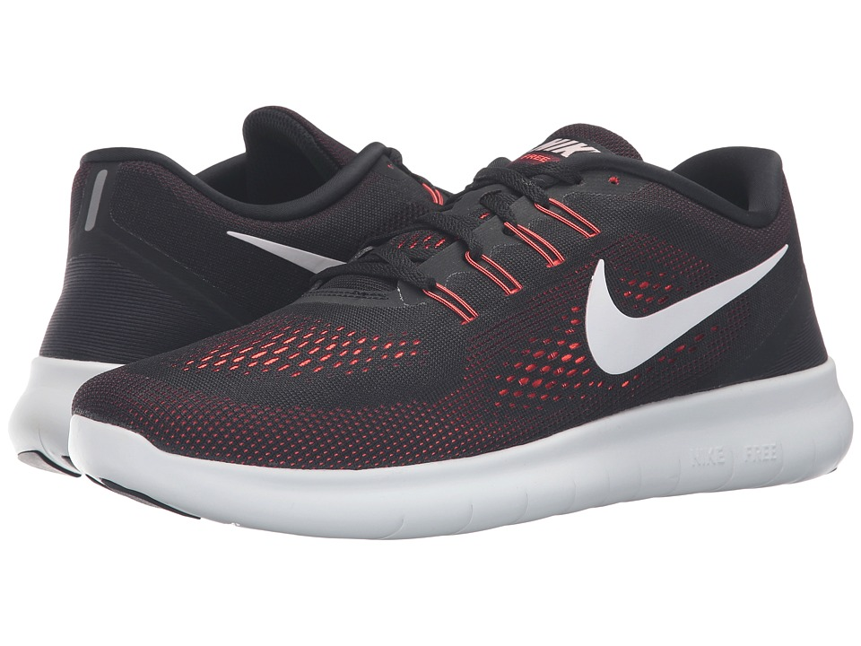 Nike - Free RN (Black/Off-White/Total Crimson/Night Maroon) Men's Running Shoes