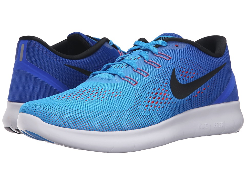 Nike - Free RN (Blue Glow/Black/Racer Blue/Bright Crimson) Men's Running Shoes
