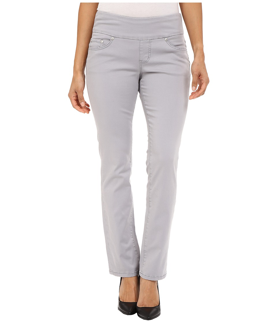 Jag Jeans Petite - Petite Peri Pull On Straight Twill Pants (Grey Morn) Women's Casual Pants