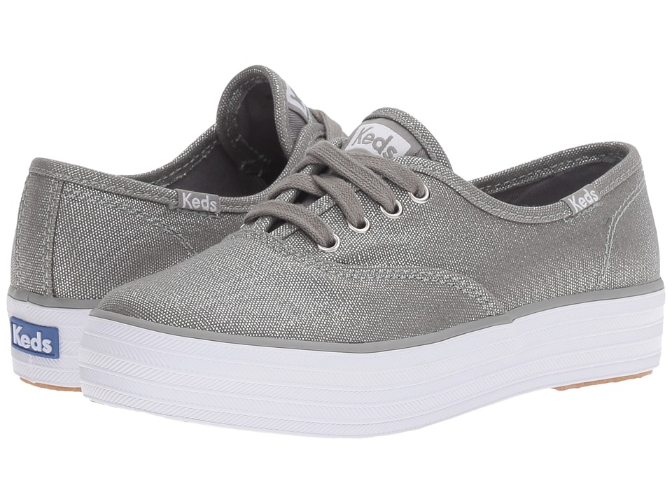 Keds Kids - Triple Kick (Little Kid/Big Kid) (Silver Metallic) Girl's Shoes