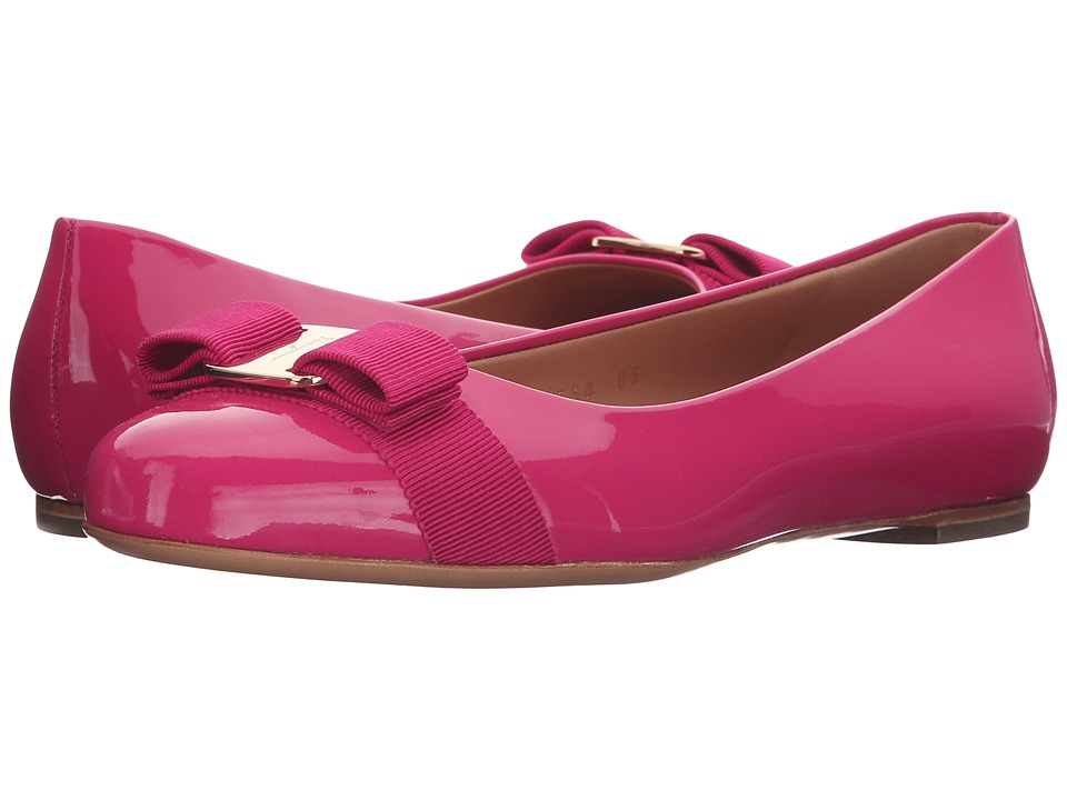 Salvatore Ferragamo - Varina (Framboise Patent Leather) Women's Slip on Shoes