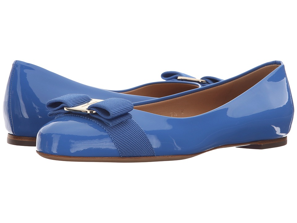 Salvatore Ferragamo - Varina (Bleu Indien Patent Leather) Women's Slip on Shoes