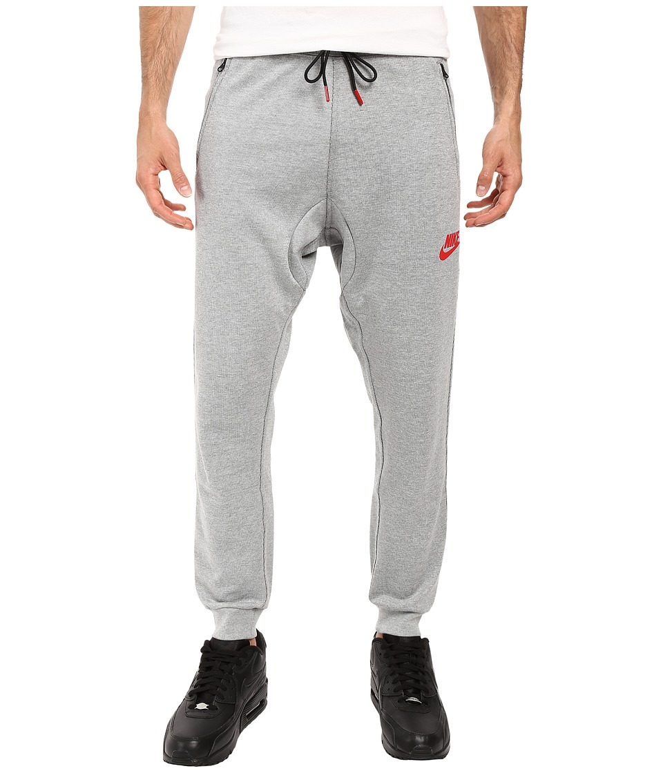 Nike - Advance 15 Fleece Jogger (Dark Grey Heather/Black/University Red) Men's Fleece