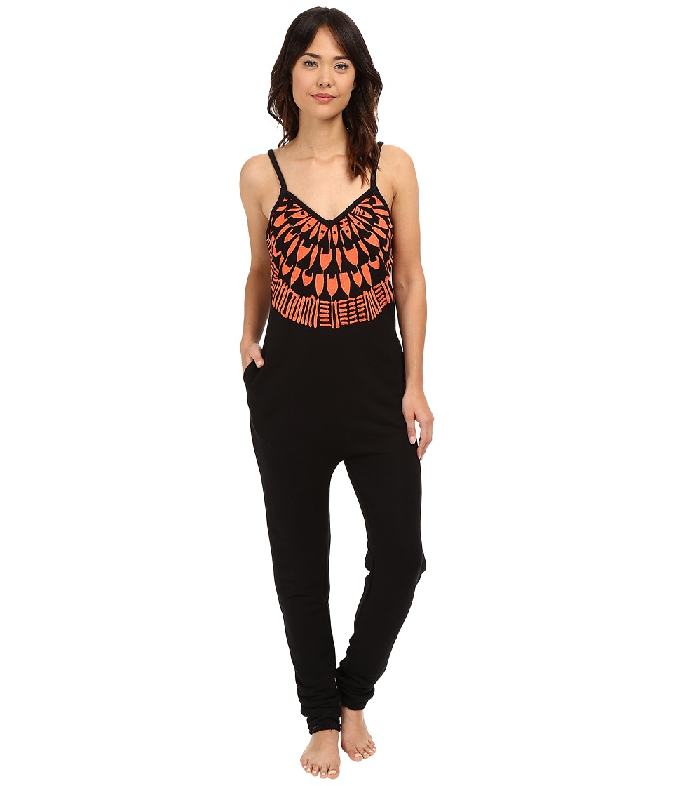 Mara Hoffman - Peacefield Jumpsuit (Black/Coral) Women's Jumpsuit & Rompers One Piece