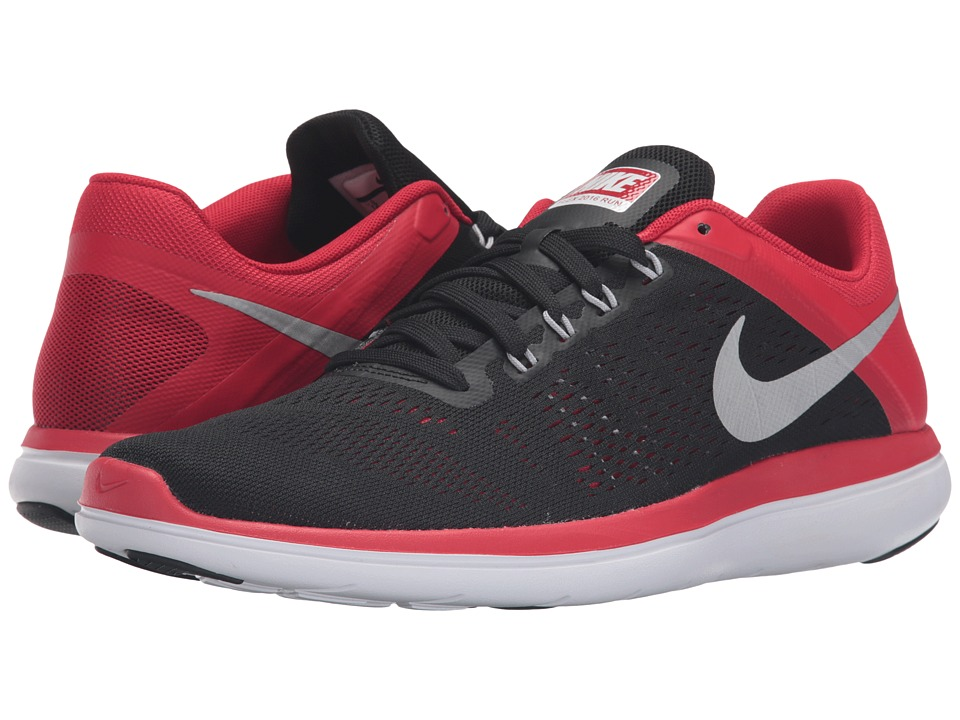 Nike - Flex 2016 RN (Black/Metallic Silver/University Red) Men's Running Shoes