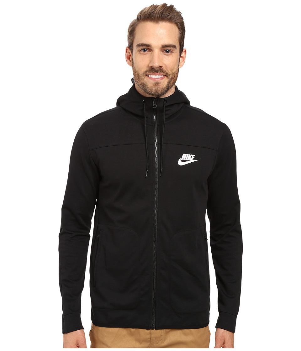Nike - Advantage 15 Full-Zip Fleece Hoodie (Black/Black/Black/Black) Men's Clothing