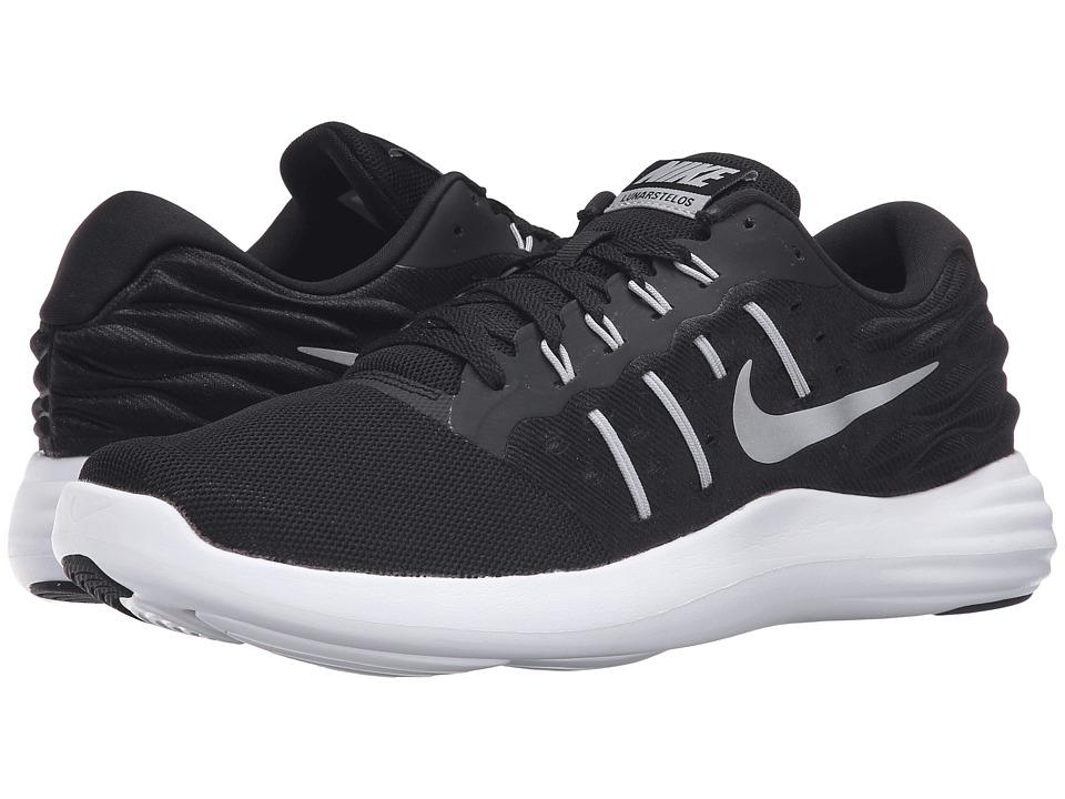 Nike - Lunarstelos (Black/Metallic Silver/Anthracite/White) Men's Running Shoes