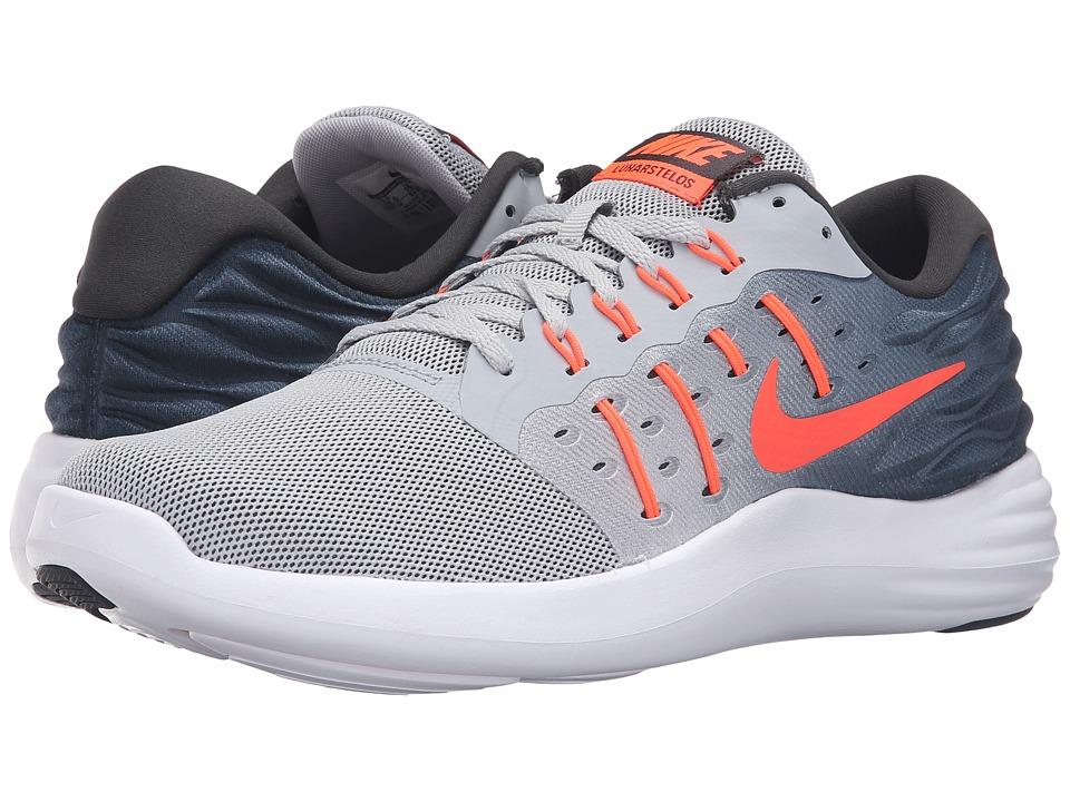Nike - Lunarstelos (Wolf Gray/Total Crimson/Anthracite/White) Men's Running Shoes