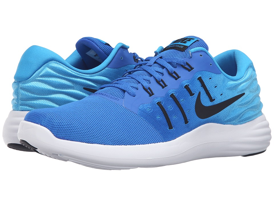 Nike - Lunarstelos (Hyper Cobalt/Black/Blue Glow/White) Men's Running Shoes