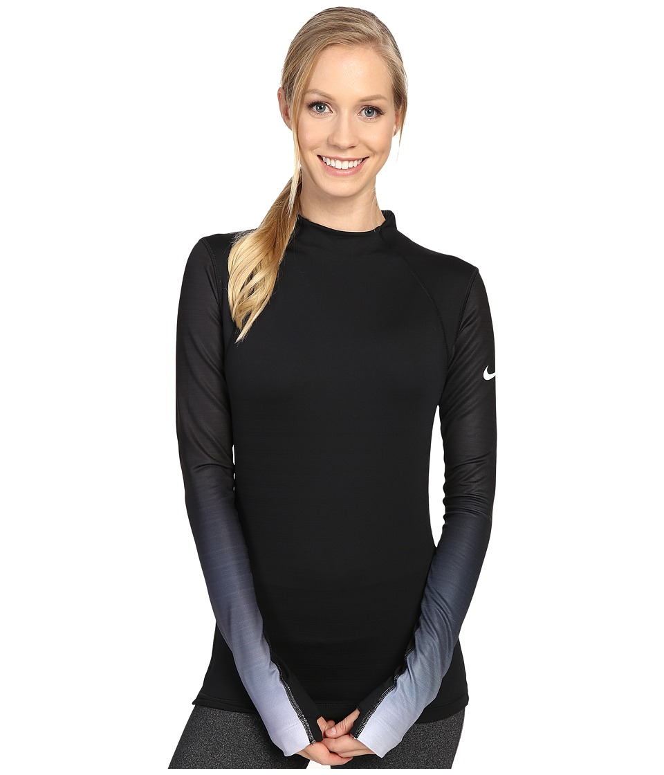 Nike - Pro Hyperwarm Long Sleeve Training Top (Black/Dark Grey/White) Women's Clothing