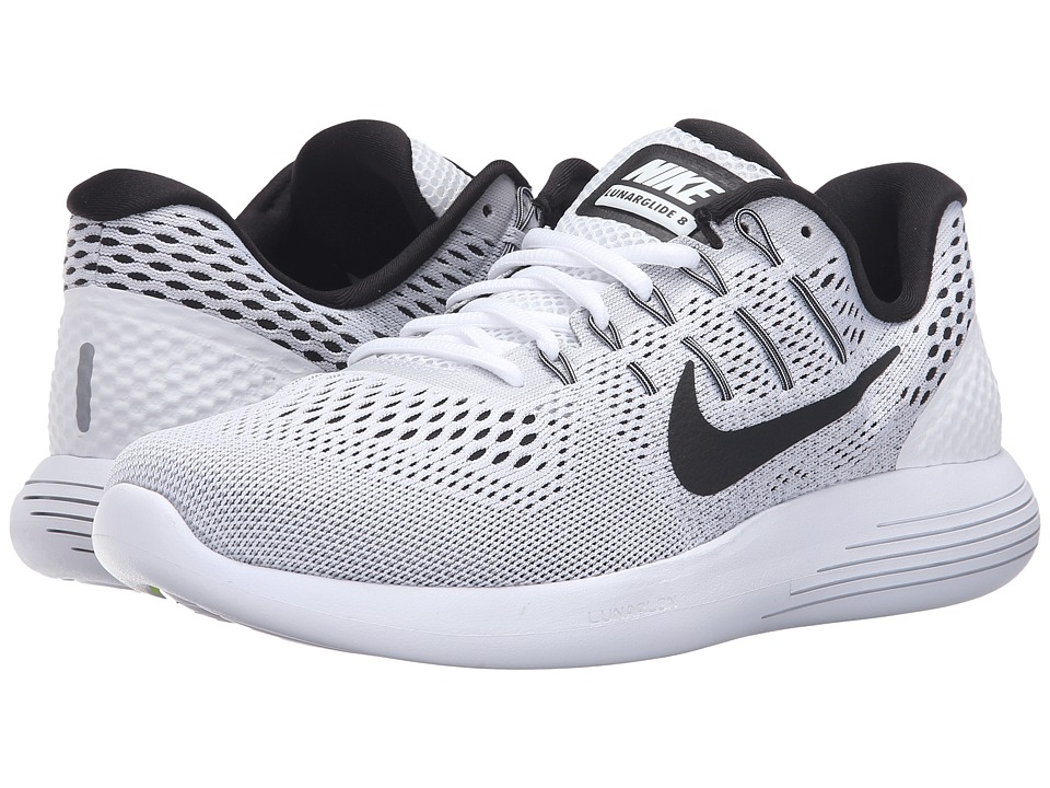 Nike - Lunarglide 8 (White/Black/Wolf Grey) Men's Running Shoes