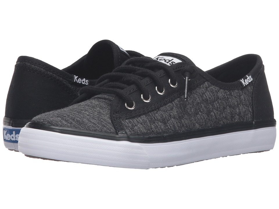 Keds Kids - Double Up (Little Kid/Big Kid) (Black Quilt) Girl's Shoes