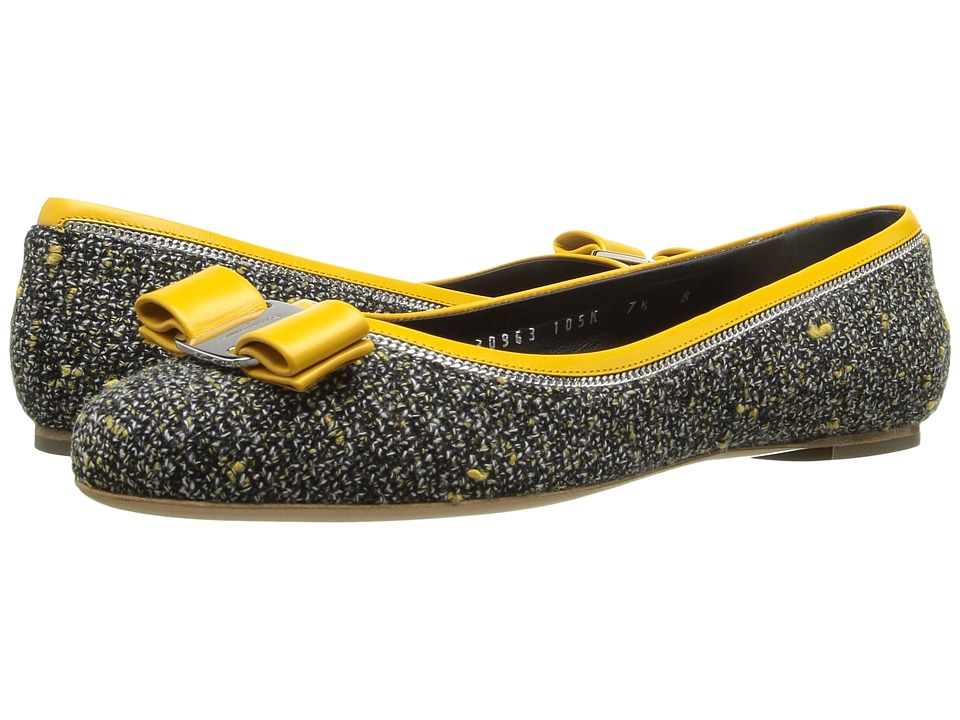 Salvatore Ferragamo - Varina Tweed (Pollen Tweed) Women's Flat Shoes