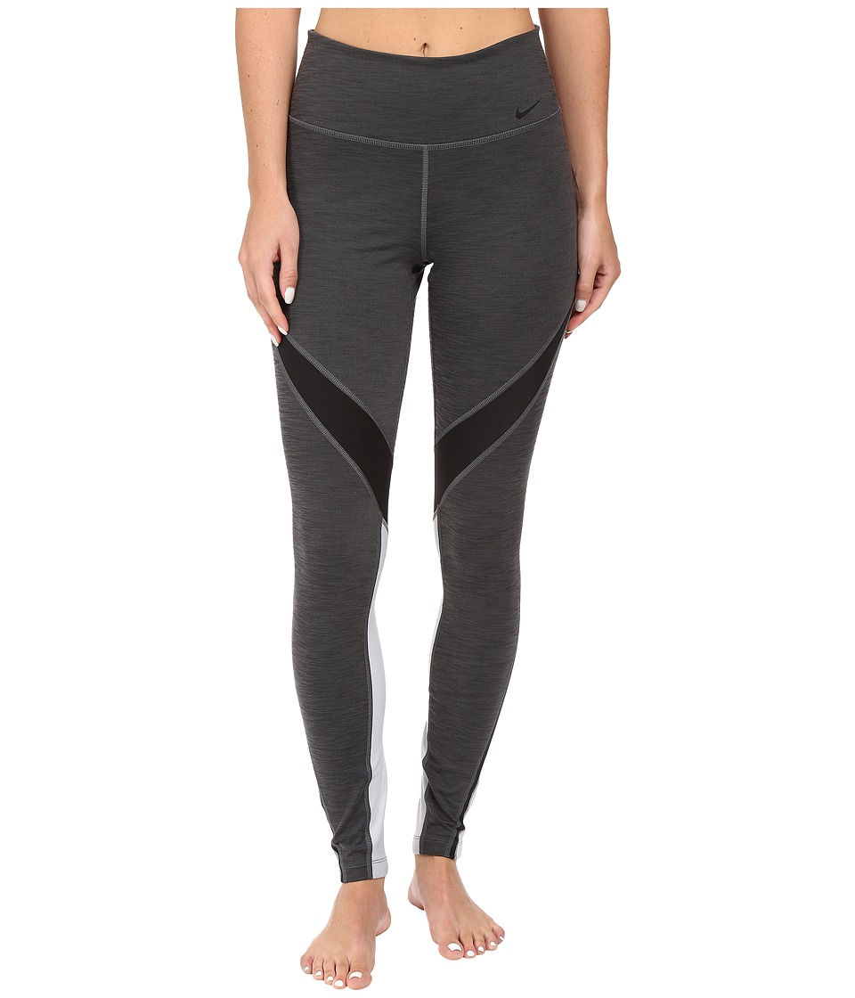 Nike - Power Legend Twist Training Tight (Charcoal Heather/Black/Wolf Grey/Black) Women's Workout