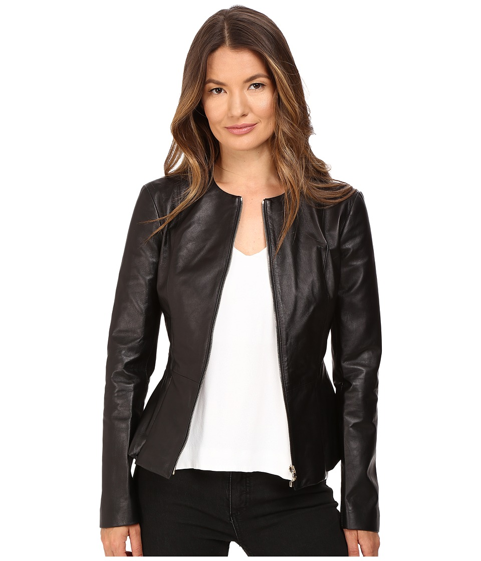 Philipp Plein - Leather Jacket (Black) Women's Coat