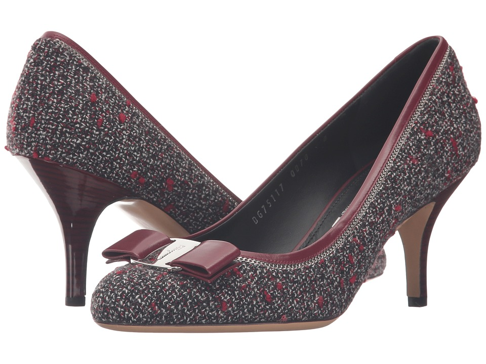 Salvatore Ferragamo Carla Tweed (Opera Tweed) High Heels