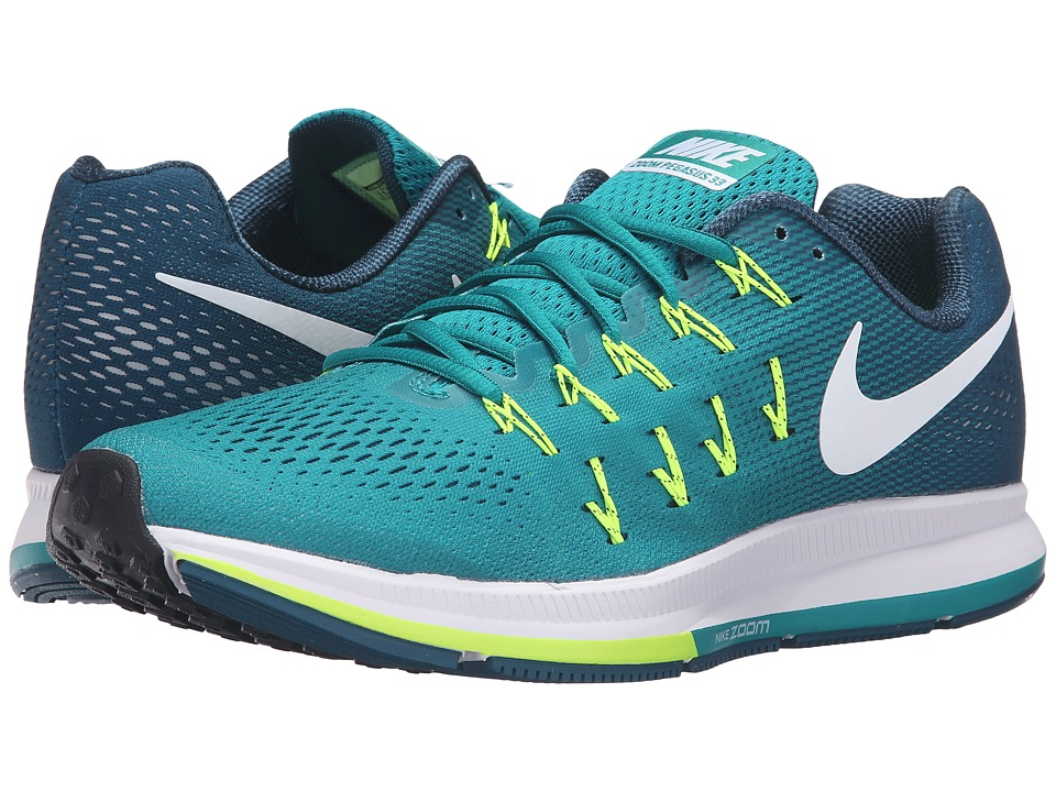 Nike - Air Zoom Pegasus 33 (Rio Teal/White/Midnight Turquoise/Volt) Men's Running Shoes