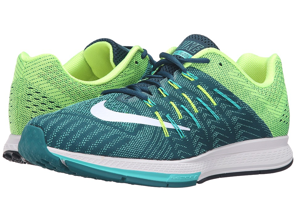 Nike - Air Zoom Elite 8 (Midnight Turquoise/White/Clear Jade/Volt) Men's Running Shoes