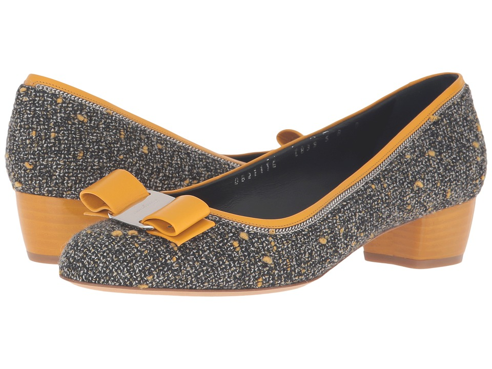 Salvatore Ferragamo Vara Tweed (Pollen Tweed) Women