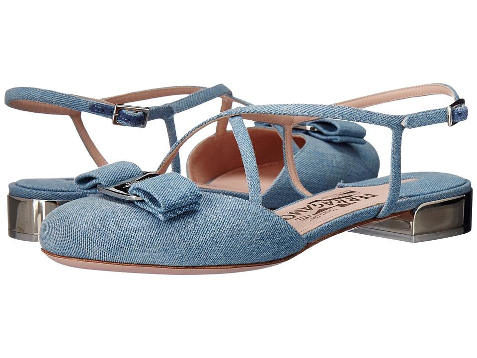 Salvatore Ferragamo - Felma (Blue Denim/Denim) Women's Flat Shoes