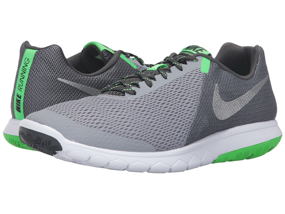 Nike - Flex Experience RN 5 (Stealth/Metallic Silver/Anthracite/Rage Green) Men's Running Shoes