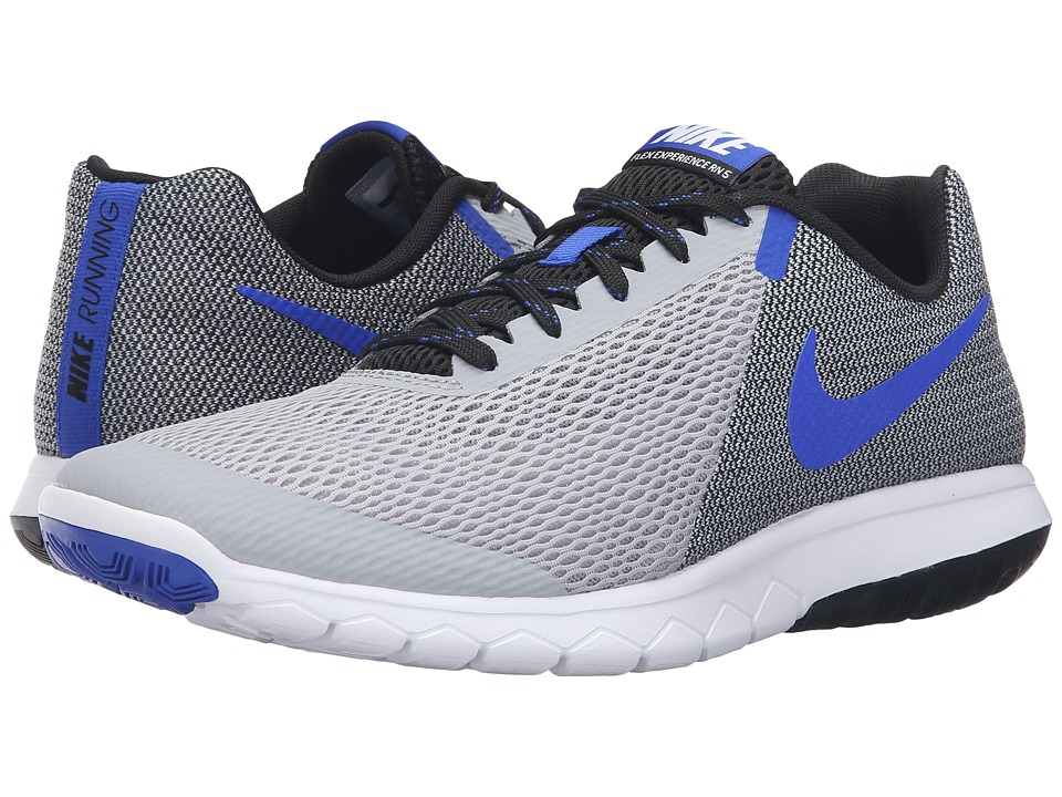 Nike - Flex Experience RN 5 (Wolf Grey/Racer Blue/Black/White) Men's Running Shoes