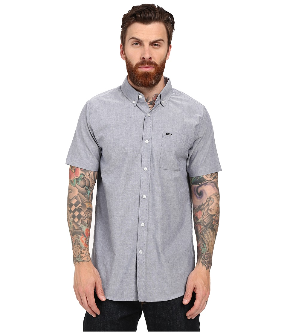 Rip Curl - Ourtime Short Sleeve Shirt (Insignia Blue 1) Men's Short Sleeve Button Up