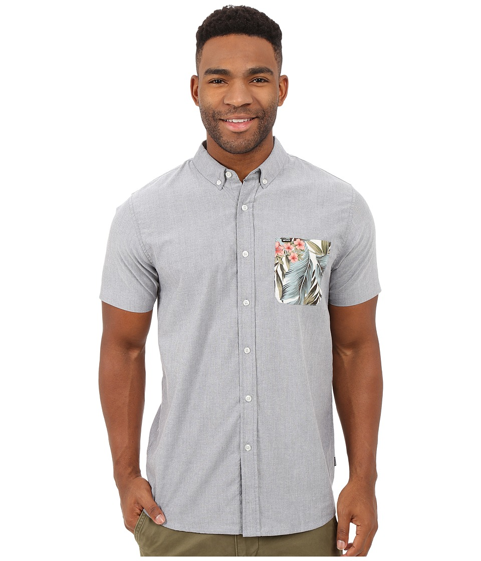 Rip Curl - Ourtime Short Sleeve Shirt (Medium Grey) Men's Short Sleeve Button Up